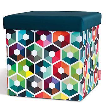 Remember Sitzbox Hexagon Hocker 38 x 38 x 38 cm