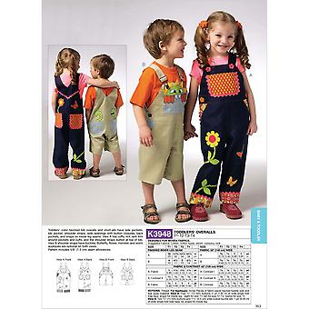 Toddlers' Overalls  T1  T2  T3  T4 Pattern K3948