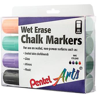 Jumbo Tip Wet Erase Markers 4/Pkg-Black, Green, Orange, & Violet SMW56PC-4M1