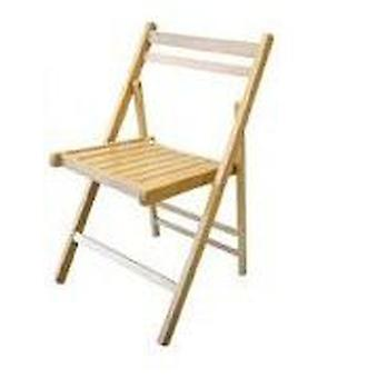 Kit Closet Natural Wood Folding Chair 15002