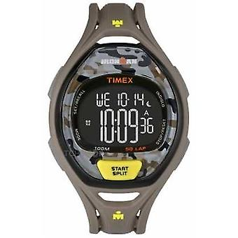 Timex Mens Indiglo Iron Man Sleek Alarm Chronograph Brown Camo TW5M01300 Watch