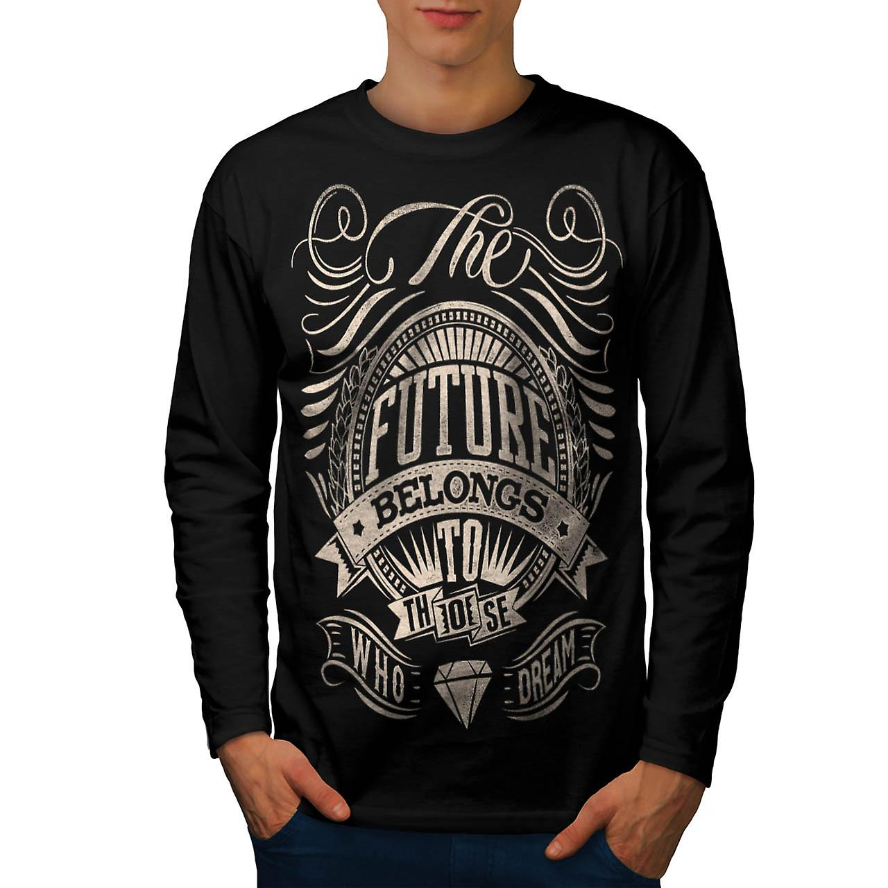 Future For Dream USA About Life Men Black Long Sleeve T-shirt | Wellcoda