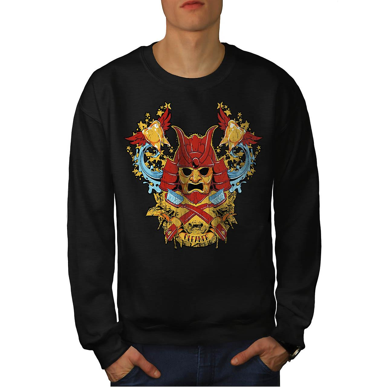 Dents plus propres Samurai Warrior hommes Black Sweatshirt | Wellcoda