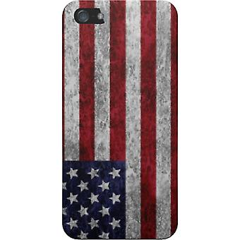 The cover Uses grunge flag for iPhone 4S/4