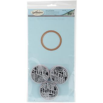Spellbinders Stamp & Die Set-Word Circles 2 SDS028