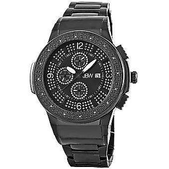 JBW diamond men's stainless steel watch SAXON - black