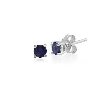 Gemondo 9ct Weißgold 0,28 ct Iolite 4 Klaue Runde Set Stud Ohrringe 3,5 mm