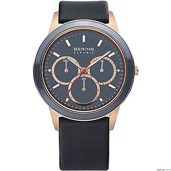 Bering mens Unisex Watch wristwatch - 33840-467 leather slim ceramic