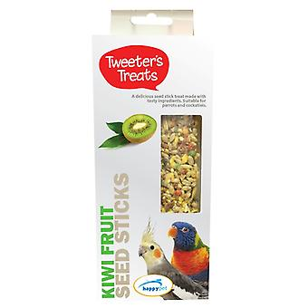 Tweeters Treats Seed Sticks For Parrots Kiwi Fruit (Pack of 6)