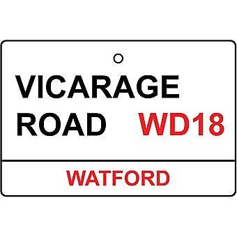 Watford / Vicarage Rd Street Sign Car Air Freshener