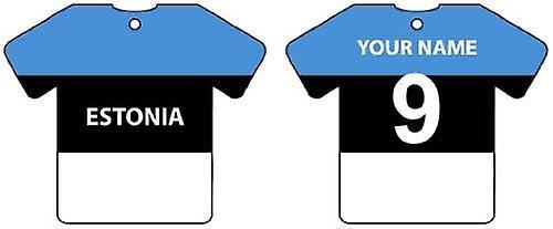 Individanpassade Estland flagga Jersey bil luftfräschare