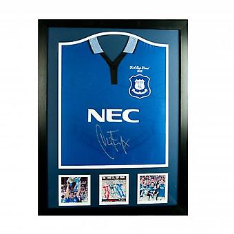 Everton Ferguson Signed Shirt (Framed)