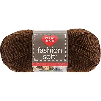 Red Heart Fashion Soft Yarn-Chocolate E845-9344