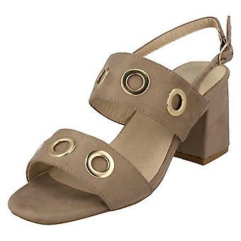Ladies Anne Michelle Mid Heel Slingback Sandals F10730