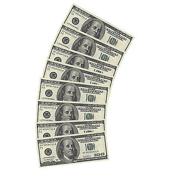 Napkins $10pcs $100 appearance counterfeit decoration party play money