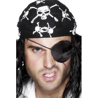 Deluxe pirate eye patch, black