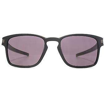 Oakley-Latch Quadrat Sonnenbrillen In mattem Schwarz warmgrau