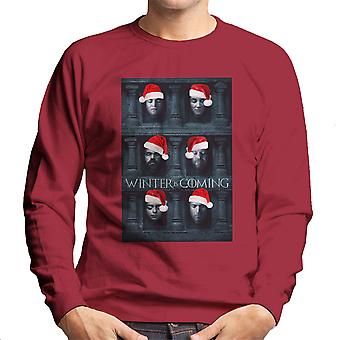 Vinteren er Coming Game Of Thrones ansigter jul mænds Sweatshirt