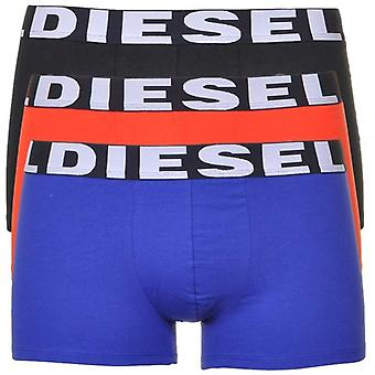 DIESEL 3-Pack Boxer Trunk UMBX-Shawn, Black/Orange/Blue, Large