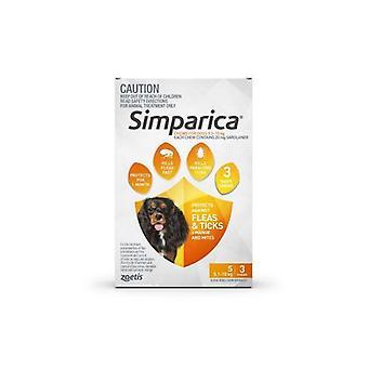 Simparica lille hund 5,1-10kg Orange 3pk