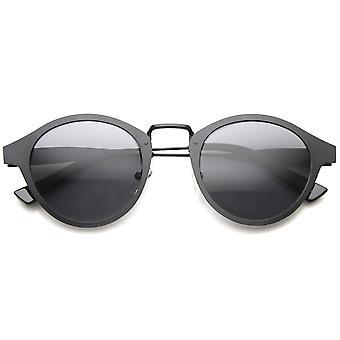 Retro Flat Metal Dapper  P-3 Horned Rim Sunglasses