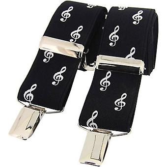 David Van Hagen Treble Clef Music Braces - Black/White