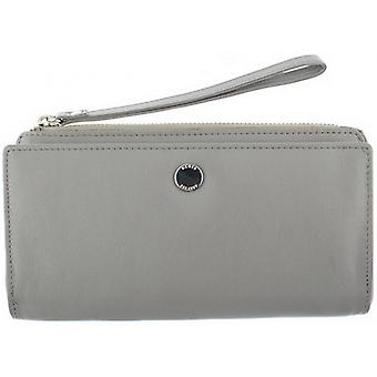 Dents Smooth Wristlet Purse - Dove Grey