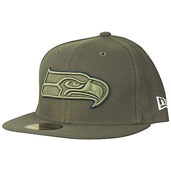 New era 59Fifty Cap - salute to service, Seattle Seahawks