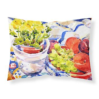 Apples Plums Grapes with Flowers Moisture wicking Fabric standard pillowcase