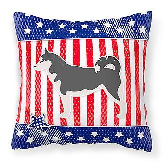 USA patriotiske Siberian Grønlandshund stoff Dekorative Pillow