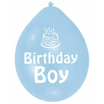 Amscan Birthday Boy/Girl Multicoloured Party Balloons (Pack Of 10)
