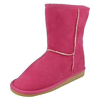 Jenter flekk på Faux Fur foret vinter støvler