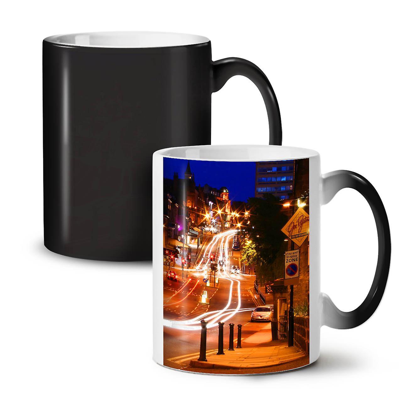 Changeant Photo Thé Nouveau Night Céramique Noir City 11 Life Tasse OzWellcoda Coloris Café DWIE9H2Y