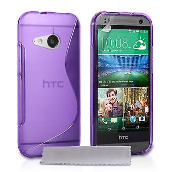 Caseflex HTC One Mini 2 siliconen Gel S-Line Case - paars