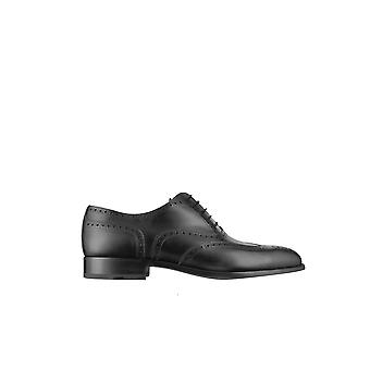 Fratelli Rossetti men's 2160188301 black leather lace-up shoes