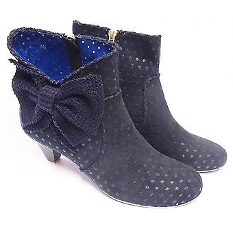 Poetic Licence Poetic Licence Bow Beauty Navy Ankle Boot With Heel
