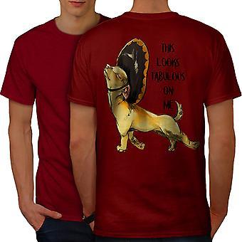Сказочные собака мужчин RedT рубашку обратно   Wellcoda