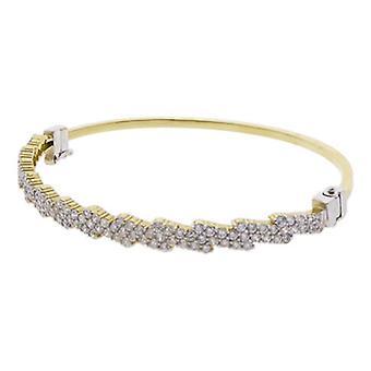 Yellow Gold cubic zirconia bracelet