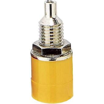Jack socket Socket, vertical vertical Pin diameter: 4 mm Yellow