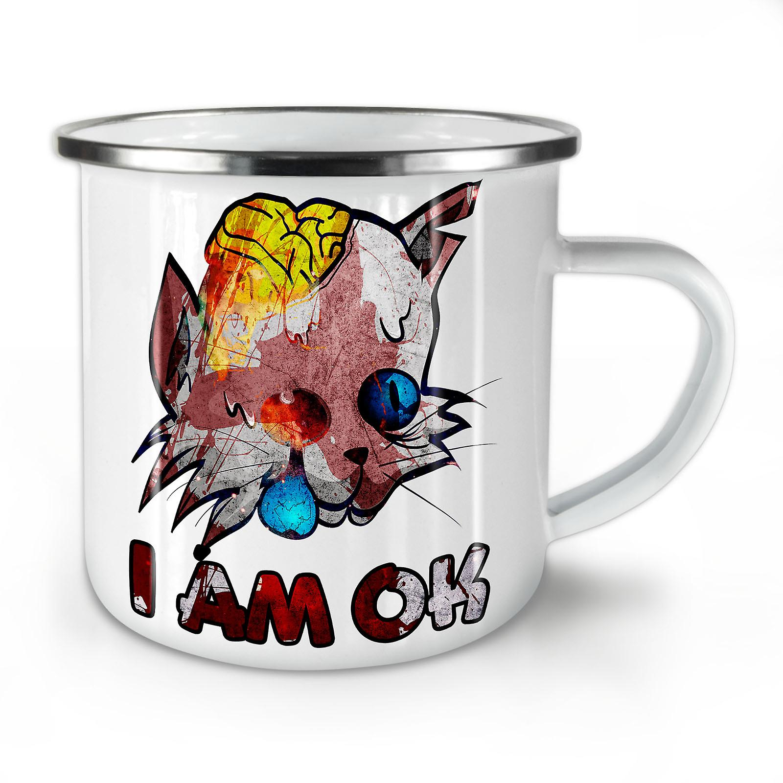 Whitetea Émail Mug10 OzWellcoda Café Ok Animal Je Nouveau Zombie Suis drCBWexo