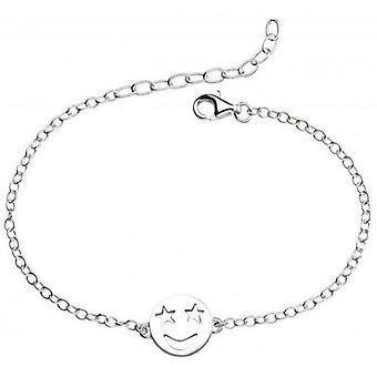 Beginnings Star Eyes Emoji Bracelet - Silver