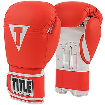 Title Boxing Originals Pro Style Hook and Loop Training Gloves - Red/White