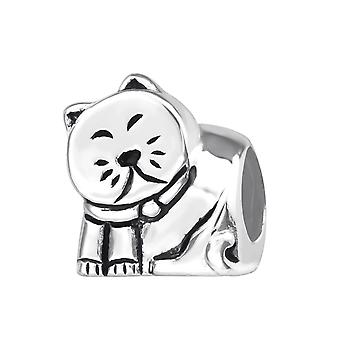 Chat - 925 Sterling Silver plaine Beads - W22698X