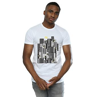 Disney Men's The Incredibles 2 Skyline T-Shirt