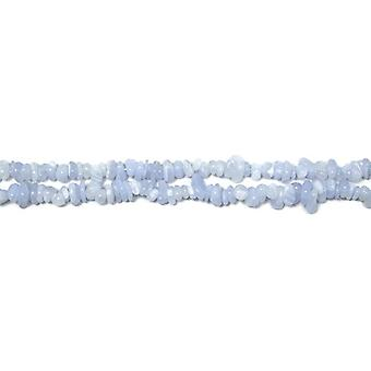 Strand 150+ Blue Chalcedony Approx 3 x 5mm Chip Beads CB36554