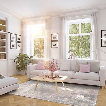 Babylon 8546 roze grijze rechthoek tapijten moderne tapijten