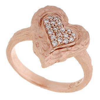 Orphelia argent 925 anneau Rose coeur Zirconium ZR-7082/1