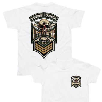 West Coast choppers mens T-Shirt hipster Hunter white
