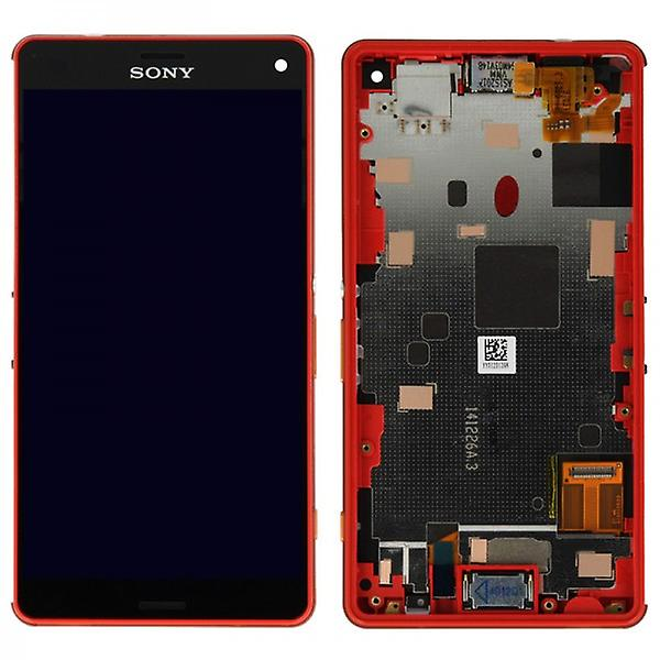 Original Sony Display LCD complete unit with frame for Xperia Z3 Compact Orange