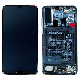 Huawei affichage écran LCD + châssis pour P20 Pro Service Pack 02351WTP Midnight Blue / bleu neuf